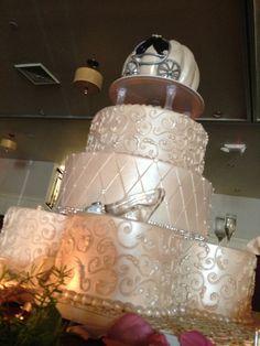 Cinderella themed wedding cake!