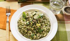 Risotto tout vert aux légumes Spaghetti, Grains, Rice, Pasta, Food, Healthy Slow Cooker, Vegetarian Food, Vegetarische Rezepte, Green