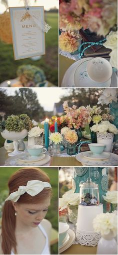 love the tea cups for the table settings