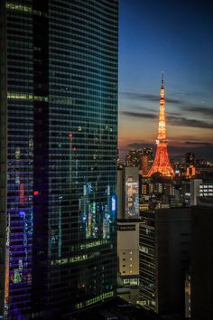 Where The Sun Rises, Modern Japanese Architecture, Tokyo Night, Cyberpunk City, Go To Japan, Tokyo Tower, Aesthetic Japan, City Buildings, Japanese Culture