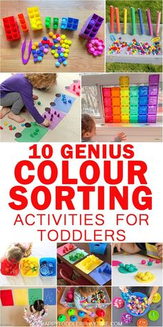15 Genius Colour Sorting Activities for Toddlers - HAPPY TODDLER PLAYTIME - - On a mission to get your toddler or preschooler to learn their colours? Check out this great list of genius colour sorting activities! Babysitting Activities, Toddler Learning Activities, Sorting Activities, Infant Activities, Fun Learning, Toddler Color Learning, Color Activities For Preschoolers, Activities For 2 Year Olds Indoor, 18 Month Activities
