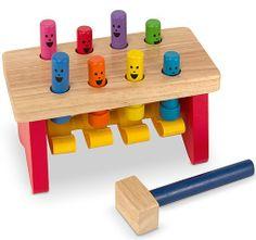 Fun pound bench develops visual skills, motor skills and hearing skills.