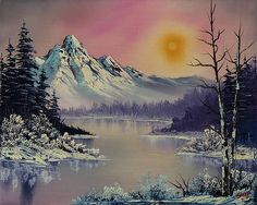 bob ross winter frost painting - bob ross winter frost paintings for sale. Shop for bob ross winter frost paintings & bob ross winter frost painting artwork at discount inc oil paintings, posters, canvas prints, more art on Sale oil painting gallery. Bob Ross Paintings, Paintings For Sale, Winter Scene Paintings, Bob Ross Art, Mountain Paintings, Winter Landscape, Winter Scenes, Landscape Paintings, Fine Art America
