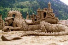 Dragon sand castle
