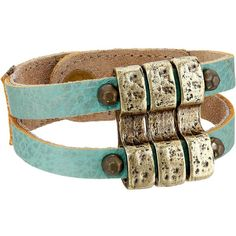 Leatherock B657 (Turquoise) Bracelet ($38) ❤ liked on Polyvore featuring jewelry, bracelets, turquoise jewelry, leatherock, equestrian jewelry, turquoise bangle and green turquoise jewelry