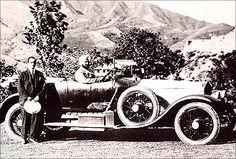 Maharaja of Patiala in his 1919 Rolls-Royce Silver Ghost motor car.