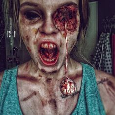 Halloween #Scary Makeup Ideas With Eye Drop #halloweenmakeup #halloween #halloweencostumes #makeup