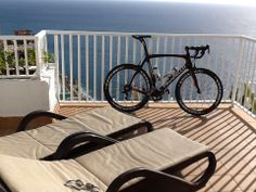My Dogma parked on the terrace at Gran Canaria, doing wintertraining