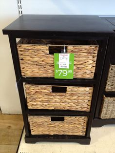 Great little tower for a tight space to corral mail, or as a nightstand with hidden storage, or for a home office! Spotted at Homegoods for $79.99