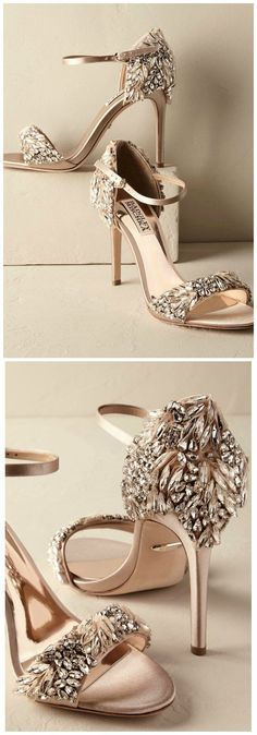 Glamorous Bridal Heels   Wedding Shoes by BHLDN #promshoesideas #promheelscinderella