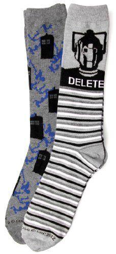 Doctor Who Flying Tardis/Cyberman Delete Socks - need!!!!!!!!!