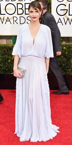 Golden Globes 2015: Red Carpet Arrivals - Amanda Peet from #InStyle