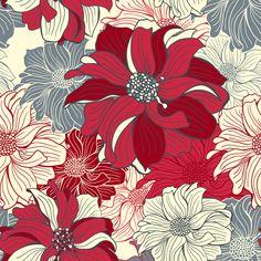 Floral pattern by Svitlana Chestnykh, via Behance