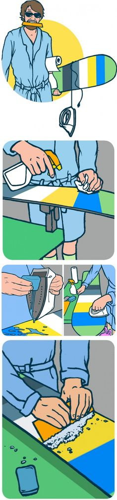 How to wax a snowboard #instructions #manual