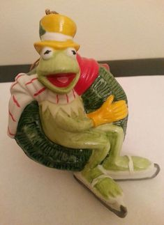 1980 KERMIT the Frog Ornament MUPPETS Jim Henson Vintage