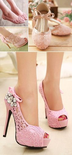Gorgeous Embroidery Lace Wedding Shoes