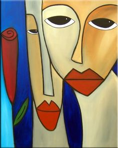 Art: Reconciled - Faces 439 by Artist Thomas C. Fedro