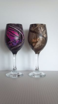 Set+of+Camo+wine+glasses+dipped+in+Muddy+Girl+and+by+RuttinCamo,+$29.95