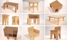 AtFAB Production Prototypes - Filson and Rohrbacher Cnc Wood, Plywood, Foldable Table, Continue Reading, The Past, Chairs, 3d, Summer, Furniture