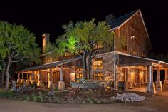 Kendalia Barn Event Venue | Heritage Restorations. I love this rustic barn home, inside is to die for.... Exterior landscaping interior