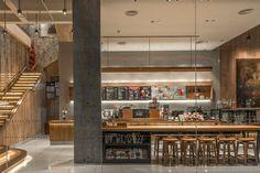 Starbucks Store, Shenzhen China, Cafe Restaurant, Terrazzo, Coffee Shop, House Design, Building, Retail Design, Visual Merchandising