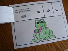 Printable Frog Emergent Reader from Making Learning Fun.
