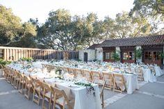 Reception Dining Tables at Vineyard
