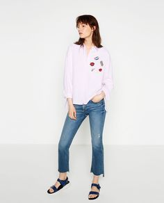 Image 1 of PATCH SHIRT from Zara