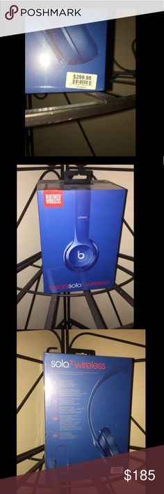 Beats Solo2 Wireless Headphones - blue New, unopened Beats by Dre Other