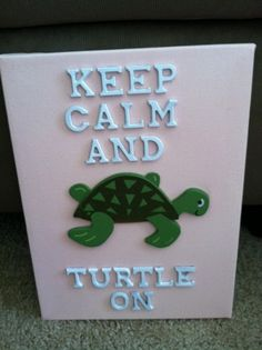 just paint, bought the turtle from michaels, and bought the letters from our greek store here in lexington.