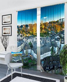"""Комплект штор """"Осень в старом городе"""": купить комплект штор в интернет-магазине ТОМДОМ #томдом #curtains #шторы #interior #дизайнинтерьера"""