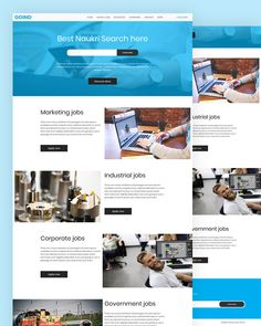 Goind - Jobs Search HTML Template Free Html Website Templates, Template Site, Html Templates, Book Festival, Job Portal, Marketing Jobs, Government Jobs, Web Browser, Job Search