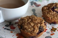 Low-fat Oatmeal Blueberry by joy the baker, I just substituted buttermilk with 1/2 cup fat-free milk with one tablespoon vinegar (and let it sit for 5 minutes before adding it with the other ingredients). SO YUMMY!