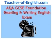 AQA GCSE Exam Prep (F) English Reading and Writing Key Stage 4 Powerpoint English Teaching Resource