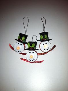 Tea Light snowmen ornaments!!