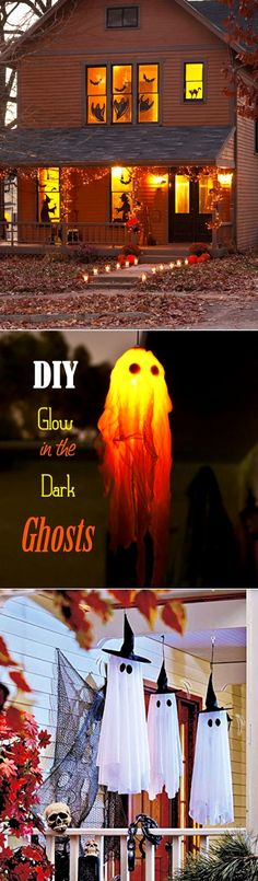 Homemade Halloween decorations • DIY outdoor Halloween decorations - scary yet fun and not too creepy