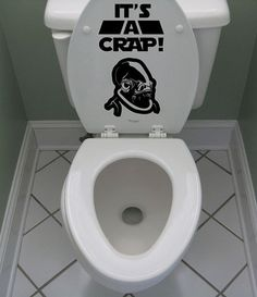 It's a CRAP Star wars inspired Admiral Ackbar toilet sticker Art,. $12.99, via Etsy.