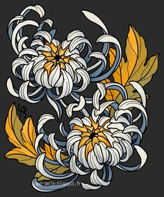 Entwined Chrysanthemums by mad-smile on DeviantArt