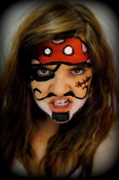 Pirate Face Painting Design ARG!