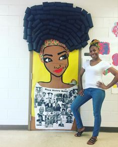25 Awesome Teachers That Decorated Their Classroom Doors For Black History Month - Black-History-Month-Teacher-Door-Decoration - History Bulletin Boards, History Classroom, History Teachers, Art History, History Facts, Teacher Door Decorations, School Decorations, Afrique Art, Teacher Doors
