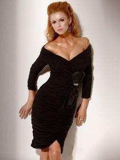 off the shoulder black dress (20)