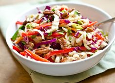 Southern-Style Slaw with Pecans and Maple-Dijon Vinaigrette 13033105 ~ Sweet and tangy with lots of crunch, this slaw is light and refreshing.