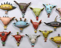 Wall Art Ceramic sculpture by Jacquline by JacqulineHurlbert, $125.00