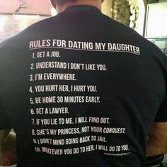 For all the Dads with (Dating Age) Daughters out there today....  = )