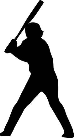 Baseball Player Batting Stance Righty Silhouette : Custom Wall Decals, Wall Decal Art, and Wall Decal Murals | WallMonkeys.com