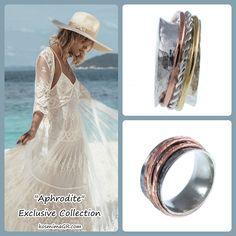 Handmade, silver ring, inspired in Greece