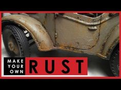How to make your own RUST for weathering scale models - YouTube