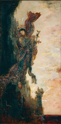 Падение Сапфо (80 х 40 см) Gustave Moreau (1826-1898)