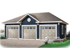 The Lynwood Three-Car Garage plan. See details for Plan – garage 3 Car Garage Plans, Garage Plans With Loft, Garage Shed, Diy Garage, Garage Ideas, Garage Room, Small Garage, Garage Workbench, Garage Storage