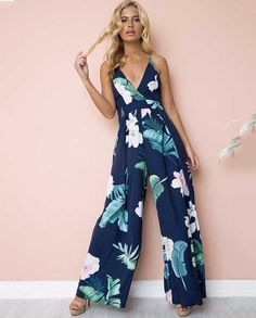 Jumpsuit for Women Print Halter Sling Bodycon One-Piece Garment Casual Mini Rompers Vacation Elegant Jogger